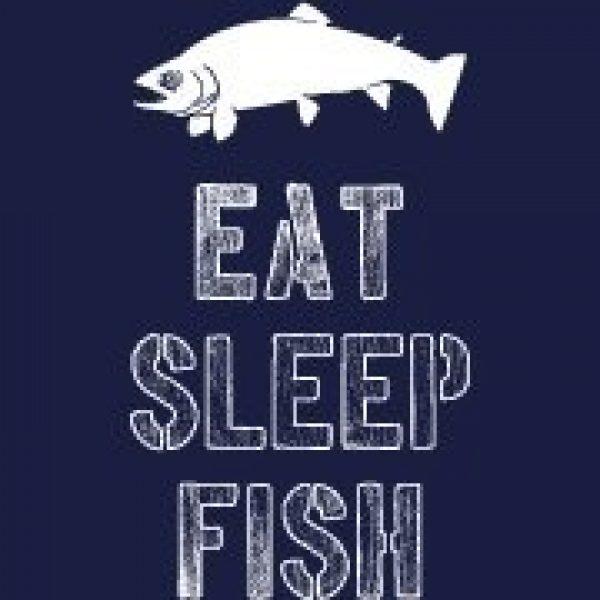 Crazy Dog T-Shirts Graphic Tshirt 2 Mens Eat Sleep Fish T Shirt Funny Sarcastic Novelty Fishing Lover Gift for Dad