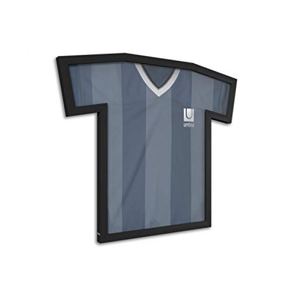 Umbra Graphic Tshirt 2 Umbra T-frame Unique Display Case to Showcase Adult Sized T-Shirts (Small to Large), Medium, Black