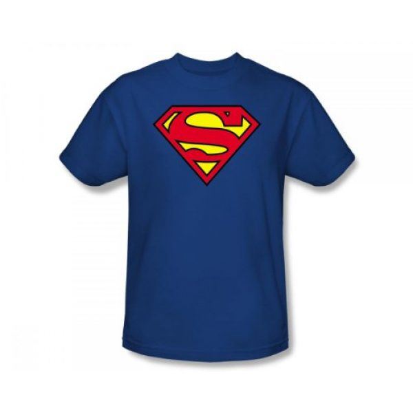 DC Comics Graphic Tshirt 1 Superman Classic Logo Men's Royal Blue T-shirt