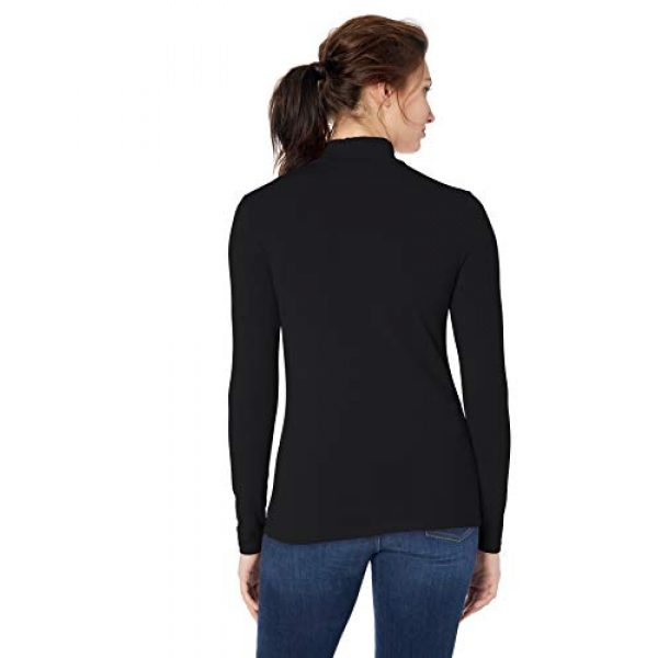 Amazon Essentials Graphic Tshirt 2 Women's Classic-Fit Long-Sleeve Mockneck Top