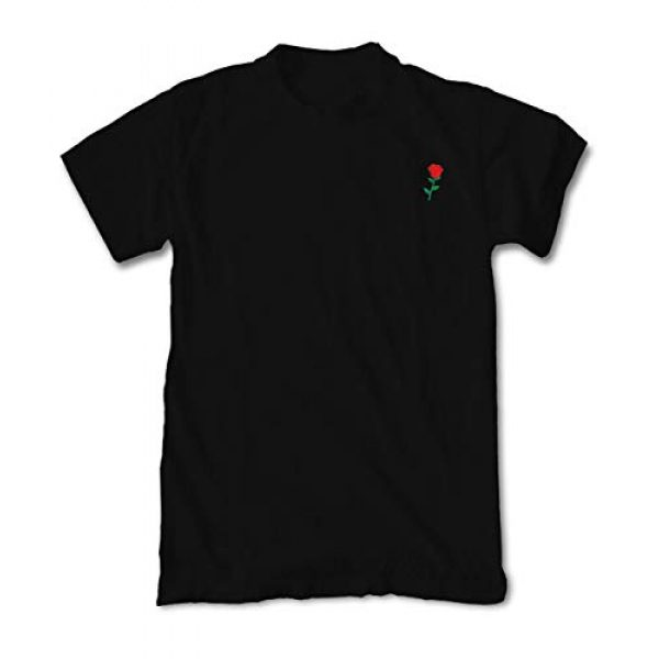 Riot Society Graphic Tshirt 1 Rose Embroidered Men's T-Shirt - Black, Large