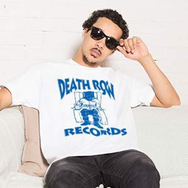 Ripple Junction Graphic Tshirt 4 Death Row Records Adult Unisex Blue Logo Light Weight 100% Cotton Crew T-Shirt