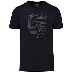 Porsche Graphic Tshirt 1 Black Crest Men's T-Shirt