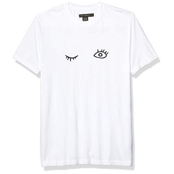 French Connection Graphic Tshirt 1 Short Sleeve Crew Neck Printed Cotton T-Shirt