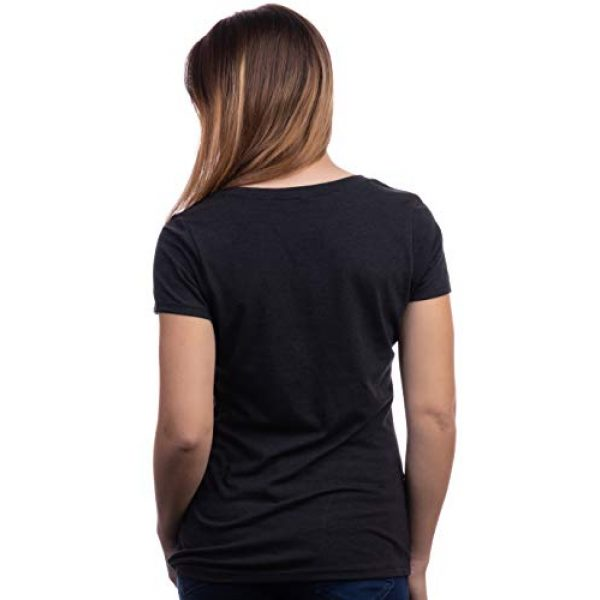 Ann Arbor T-shirt Co. Graphic Tshirt 4 Fireflies | Lightning Bug Firefly Nature Art Insect Fire Fly V-Neck T-Shirt for Women