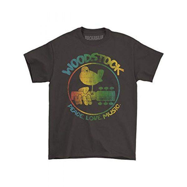 Impact Originals Graphic Tshirt 2 Woodstock Men's Colorful Logo Slim Fit T-Shirt Coal