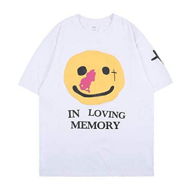 NAGRI Graphic Tshirt 1 ASAP CPFM Pharrell Short Sleeve T-Shirt in Loving Memory Hip Hop Letter Printing Graphic Rap Music Crew Neck Tee