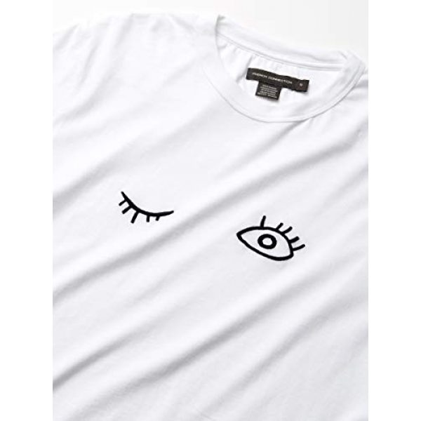 French Connection Graphic Tshirt 2 Short Sleeve Crew Neck Printed Cotton T-Shirt