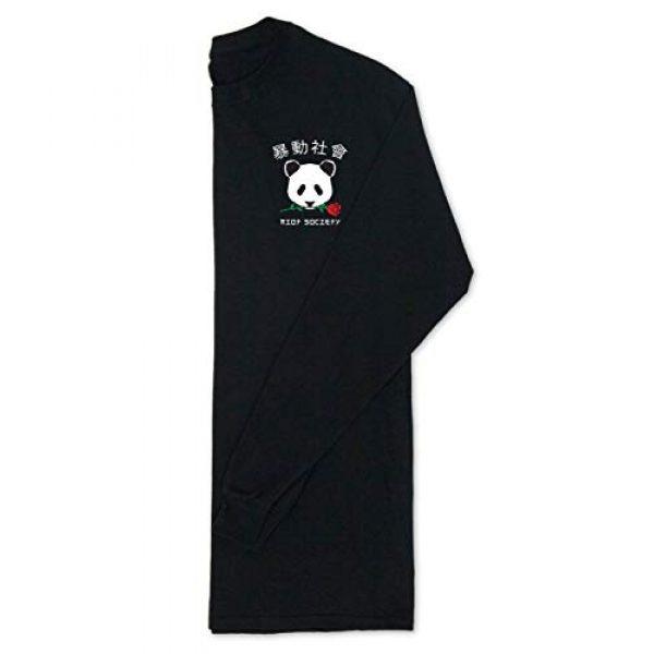 Riot Society Graphic Tshirt 7 Panda Rose Mens Long Sleeve T-Shirt - XXL