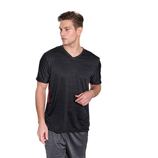 Real Essentials Graphic Tshirt 5 5 Pack: Mens V-Neck Dry-Fit Moisture Wicking Active Athletic Tech Performance T-Shirt