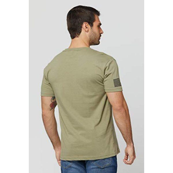THREE VIKINGS Graphic Tshirt 4 Premium Men's American Freedom T-Shirts - Patriotic Tees - USA Tactical Flag
