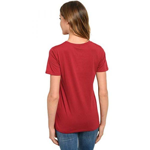 DC Comics Graphic Tshirt 2 Wonder Woman Womens T-Shirt - Dark Red - Costume Graphic Print