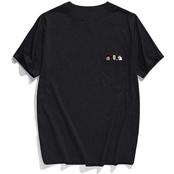 YX GIRL Graphic Tshirt 4 Pocket t-Shirt Summer Cotton t Shirts Men/Women Printed Novelty tees