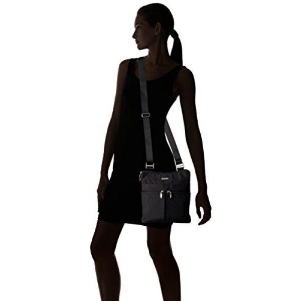 Baggallini Graphic Tshirt 7 Women's Horizon Crossbody, Black Zebra Emboss, One Size