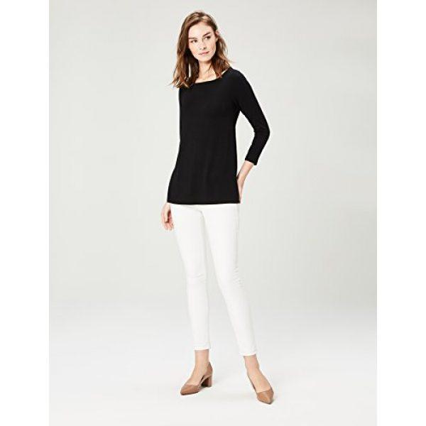 Daily Ritual Graphic Tshirt 4 Women's Jersey 3/4-sleeve Bateau-Neck Swing T-Shirt