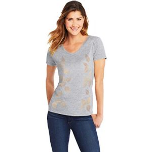 Hanes Graphic Tshirt 1 Womens Short Sleeve Graphic V-neck Tee (multiple graphics available)