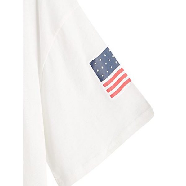 HUILAN Graphic Tshirt 4 Women's USA Letter Print Crop Tops Summer Short Sleeve T-Shirt