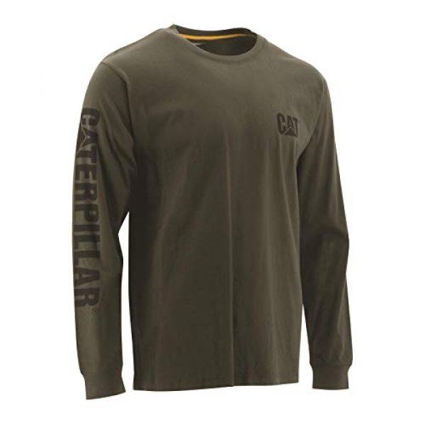 Caterpillar Graphic Tshirt 1 Men's Trademark Banner Long Sleeve T-Shirt
