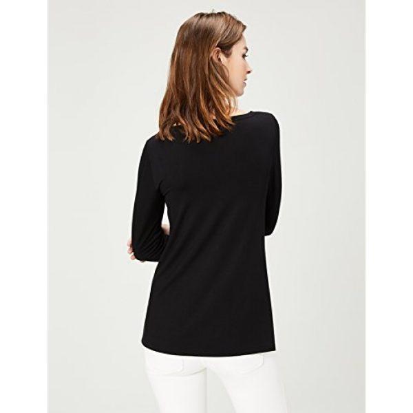 Daily Ritual Graphic Tshirt 3 Women's Jersey 3/4-sleeve Bateau-Neck Swing T-Shirt