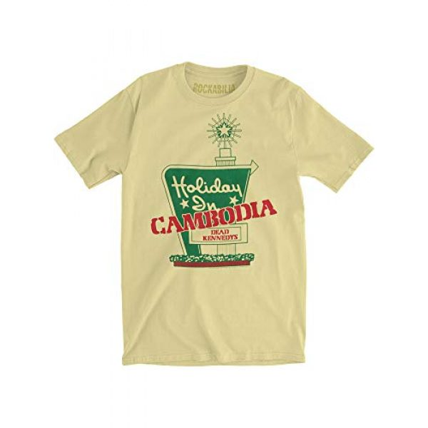 Impact Originals Graphic Tshirt 3 Dead Kennedys Men's Holiday in Cambodia Slim Fit T-Shirt Banana