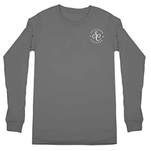 Southern Couture Graphic Tshirt 2 SC Classic Cotton Fleur on Long Sleeve Classic Fit Adult T-Shirt - Charcoal