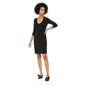 Daily Ritual Graphic Tshirt 1 Amazon Brand - Daily Ritual Women's Jersey 3/4-Sleeve V-Neck T-Shirt Dress