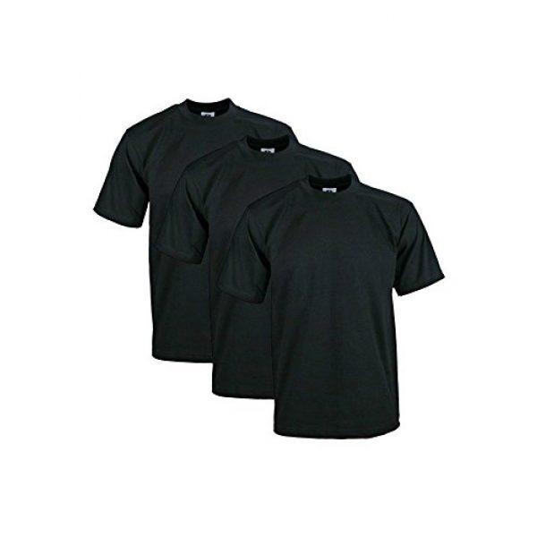 Pro Club Graphic Tshirt 1 Men's 3-Pack Heavyweight Cotton Short Sleeve Crew Neck T-Shirt