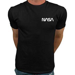 Market Trendz Graphic Tshirt 1 Official Logo NASA I Smaller Upper Left Chest Logo NASA T Shirts for Men