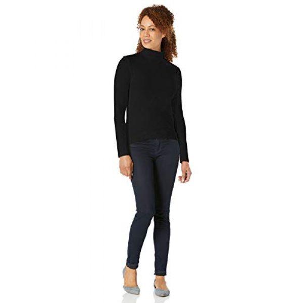 Amazon Essentials Graphic Tshirt 4 Women's Classic-Fit Long-Sleeve Mockneck Top