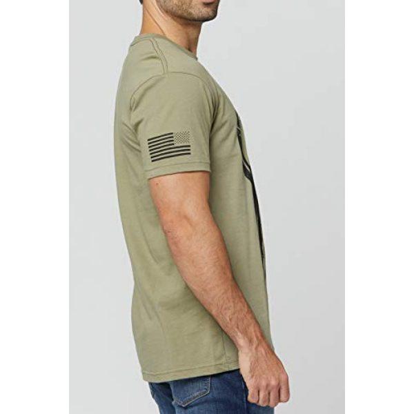 THREE VIKINGS Graphic Tshirt 3 Premium Men's American Freedom T-Shirts - Patriotic Tees - USA Tactical Flag