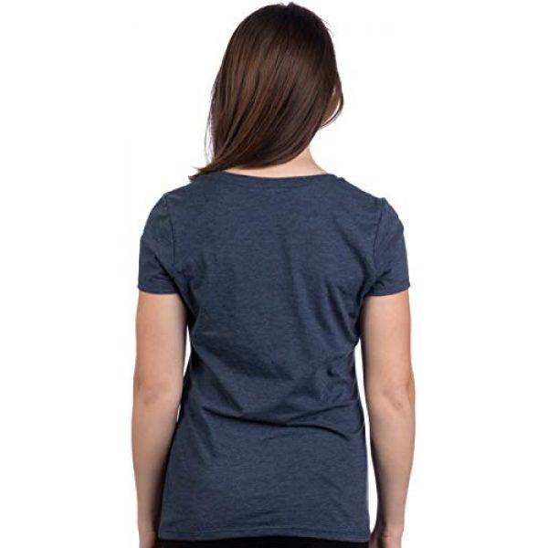 Ann Arbor T-shirt Co. Graphic Tshirt 4 Alaskan Flag | Alaska Pride Northern Lights Big Dipper V-Neck T-Shirt for Women