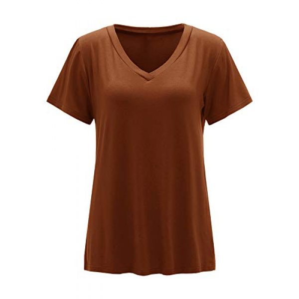 Floerns Graphic Tshirt 1 Women's Solid V Neck Short Sleeve Casual Tee Shirt Top