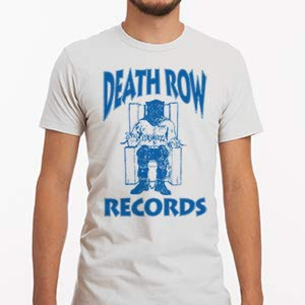 Ripple Junction Graphic Tshirt 5 Death Row Records Adult Unisex Blue Logo Light Weight 100% Cotton Crew T-Shirt