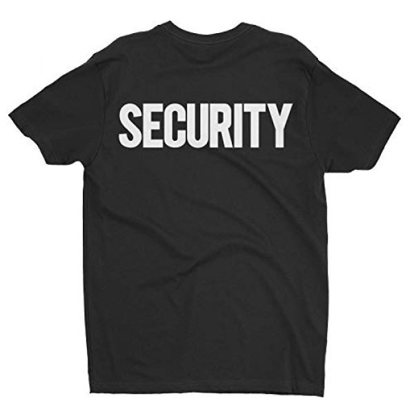 NYC FACTORY Graphic Tshirt 4 Security T-Shirt Front Back Print Mens Tee Staff Event Uniform Bouncer Screen Printed