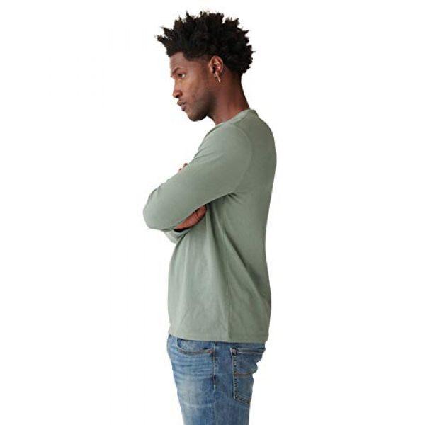 Lucky Brand Graphic Tshirt 3 Men's Long Sleeve Crew Neck Bison Tee Shirt