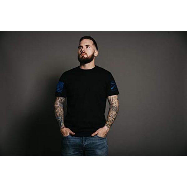 Grunt Style Graphic Tshirt 2 Blue Shield - Men's T-Shirt Black