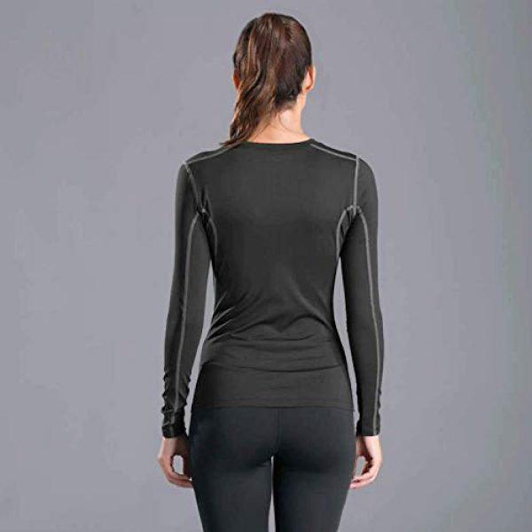 WANAYOU Graphic Tshirt 3 Women's Compression Shirt Dry Fit Long Sleeve Running Athletic T-Shirt Workout Tops