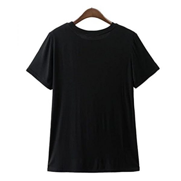 Weigou Graphic Tshirt 3 Women T Shirt Skull Finger Printed T-Shirt Halloween Skeleton Graphic Top Tee Junior Shirt T