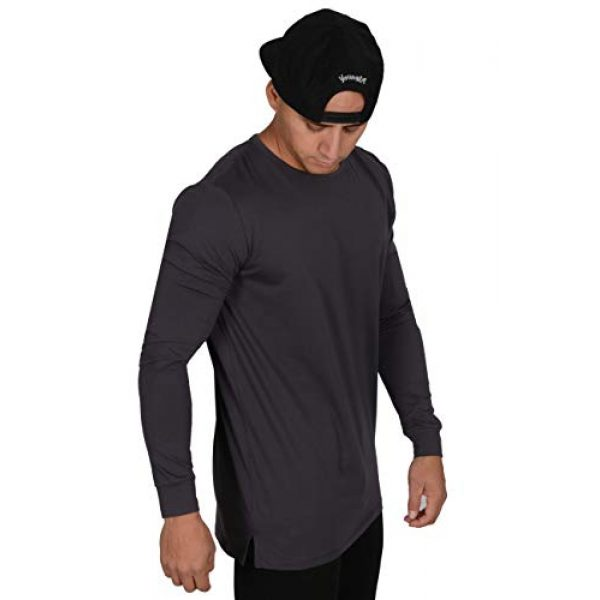 YoungLA Graphic Tshirt 3 Men's Long Sleeve T-Shirt Soft Athletic Muscle Slim Fitted Stretchy 427