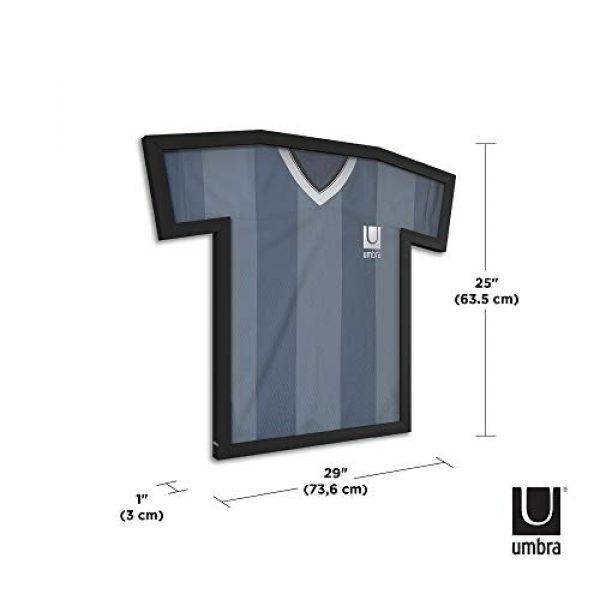 Umbra Graphic Tshirt 3 Umbra T-frame Unique Display Case to Showcase Adult Sized T-Shirts (Small to Large), Medium, Black