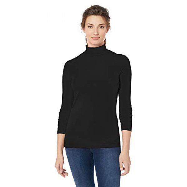 Amazon Essentials Graphic Tshirt 1 Women's Classic-Fit Long-Sleeve Mockneck Top