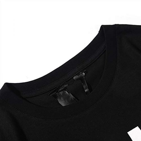 Yoaims Graphic Tshirt 6 Mens T-Shirt Big V Men Women Cotton Basic Tees Short-Sleeves Couple Crew Neck Tee Limited
