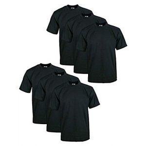 Pro Club Graphic Tshirt 1 Men's 6-Pack Heavyweight Cotton Short Sleeve Crew Neck T-Shirt