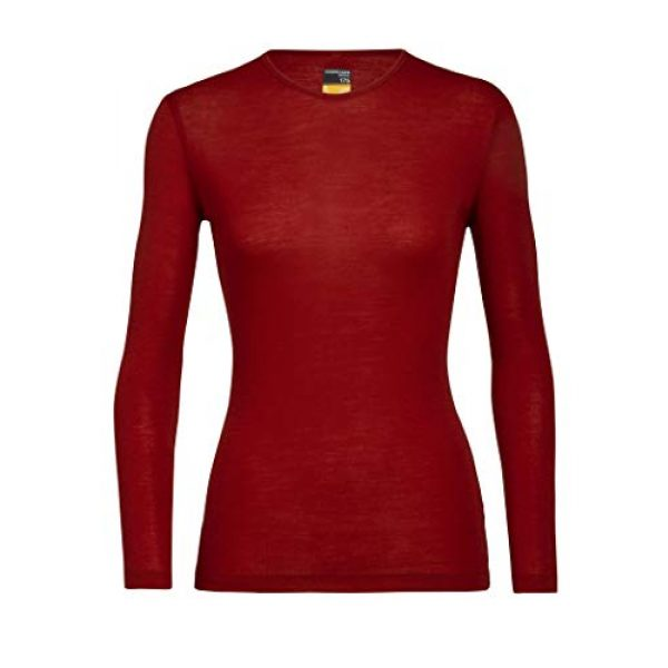 Icebreaker Merino Graphic Tshirt 1 Women's 175 Everyday Long Sleeve Thermal Cold Weather Base Layer T-Shirt