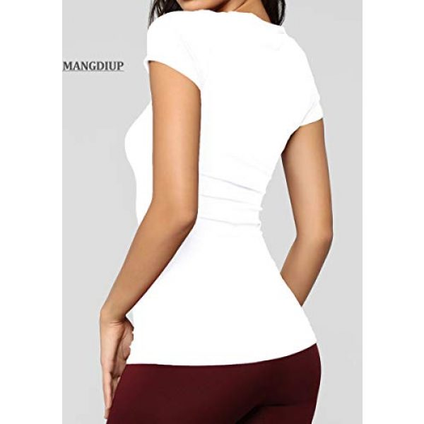 MANGDIUP Graphic Tshirt 6 Women's Classic-Slim Fit Short-Sleeve Crewneck T-Shirt