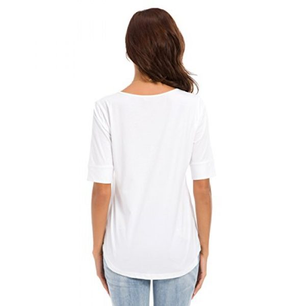 MSHING Graphic Tshirt 5 Women's Summer Casual Loose Fitting Tops Simple Crew Neck Plain Half Sleeve T-Shirt