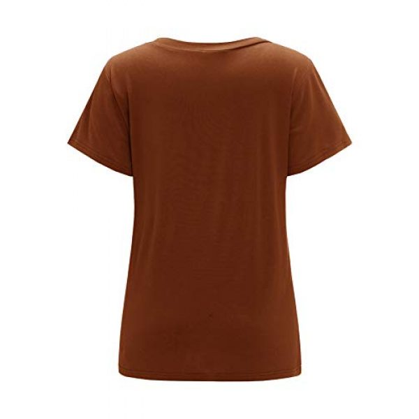 Floerns Graphic Tshirt 2 Women's Solid V Neck Short Sleeve Casual Tee Shirt Top