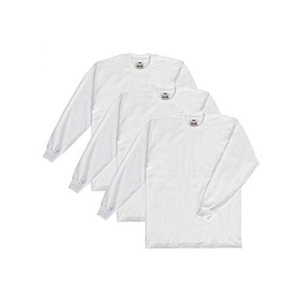 Pro Club Graphic Tshirt 1 Men's 3-Pack Heavyweight Cotton Long Sleeve Crew Neck T-Shirt