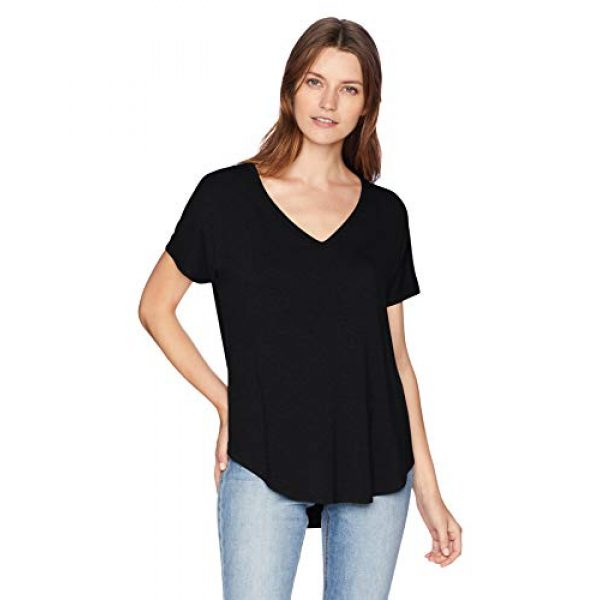 Daily Ritual Graphic Tshirt 1 Amazon Brand - Daily Ritual Women's Jersey Short-Sleeve V-Neck Longline T-Shirt