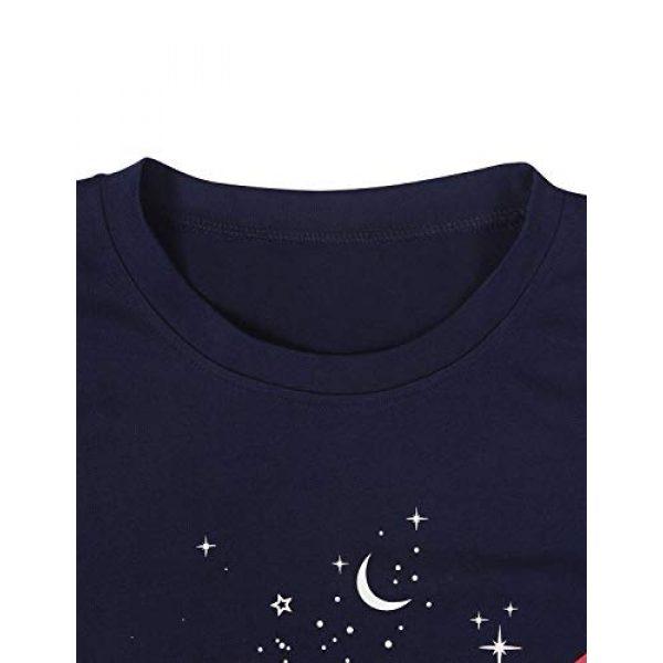 WLLW Graphic Tshirt 3 Women NASA Logo Tshirt Short Sleeve Tee Graphic Tops Space Shirt Blouse